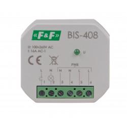 Przekaźnik bistabilny BIS-408 100÷265 Vwspółpracuje z przyciskami podświetlanymi.