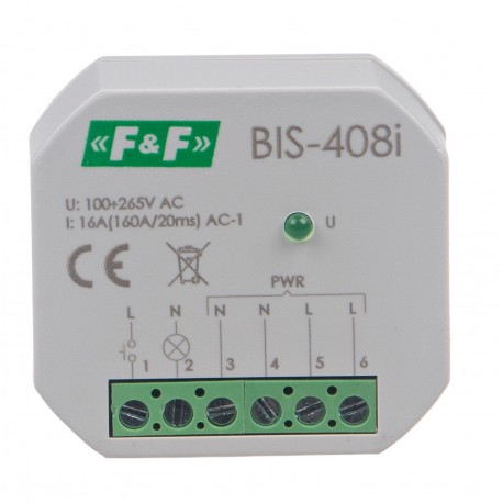Electronic bistable impulse relay BIS-408i