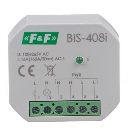 Przekaźnik bistabilny BIS-408-LED 100÷265 V załącza oświetlenie LED
