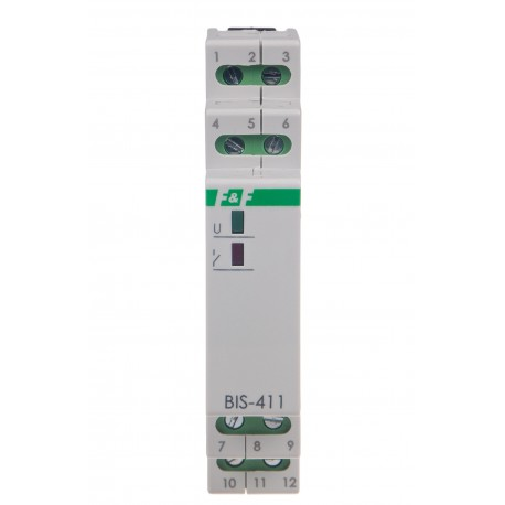 Przekaźnik bistabilny BIS-411 2Z 230V współpracuje z podświetlanymi przyciskami