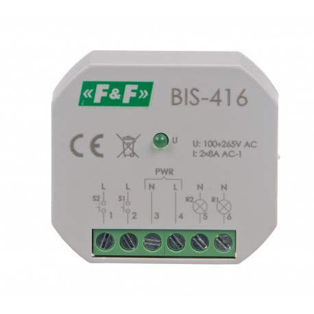 Electronic bistable impulse relay BIS-416