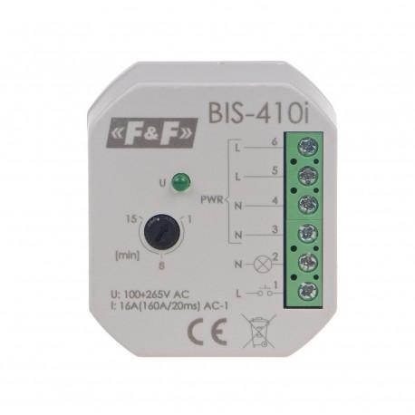 Przekaźnik bistabilny BIS-410-LED 230 V z wyłącznikiem czasowym, do oświetlenia LED