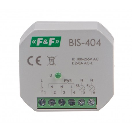 Electronic bistable impulse relay BIS-404