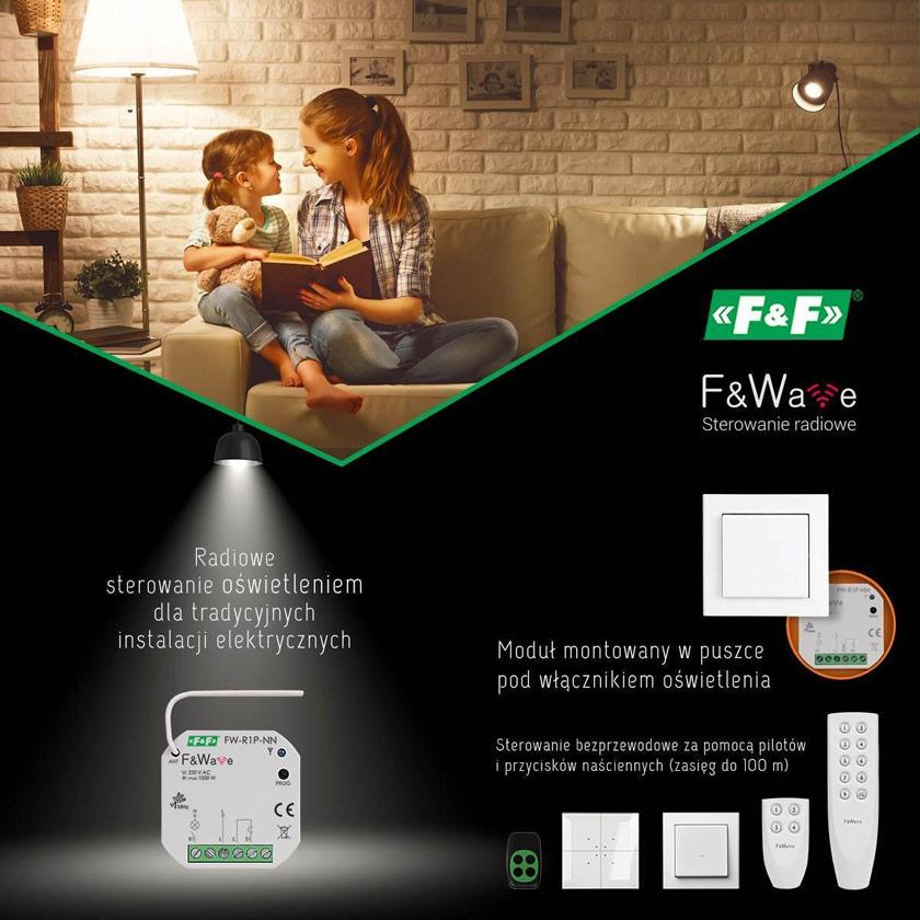 Fot. Radiowe sterowanie oświetleniem zewnętrznym montowane przy tradycyjnej instalacji to wygodna opcja.