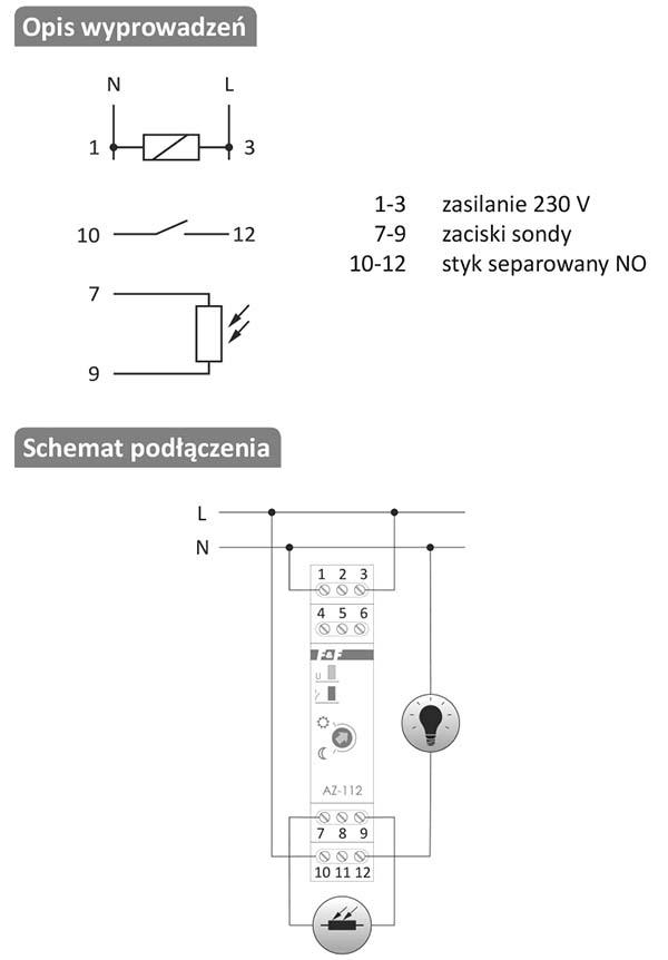AZ-112-LED instrukcja podłączenia