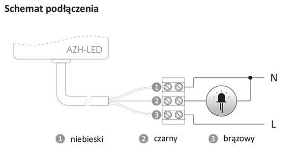 schemat podłączenia AZH LED 230V