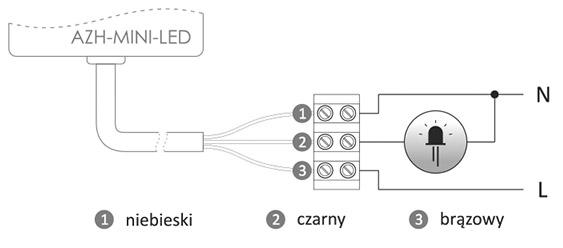 Schemat automat zmierzchowy LED