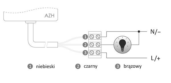 Automat zmierzchowy - schemat podłączenia