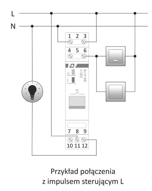 BIS-411B z przyciskiem sterującym