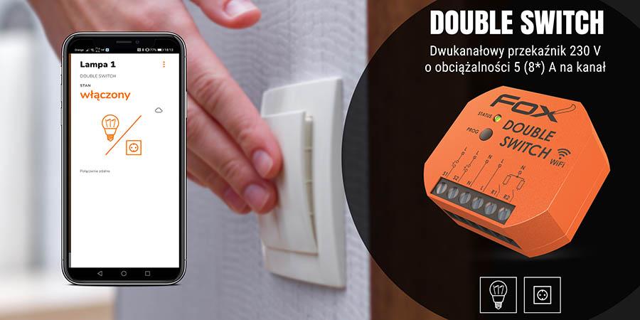 System sterowania przez Wi-Fi - moduł Double Switch
