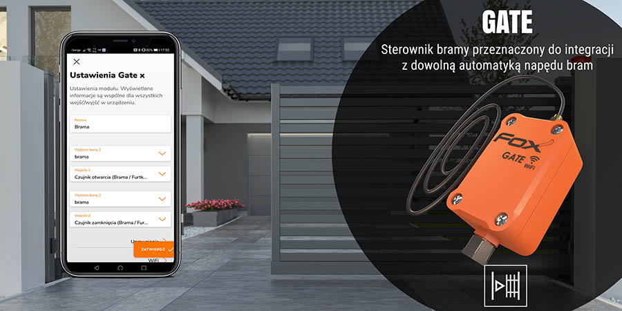 System sterowania przez Wi-Fi - moduł do bram i furtek