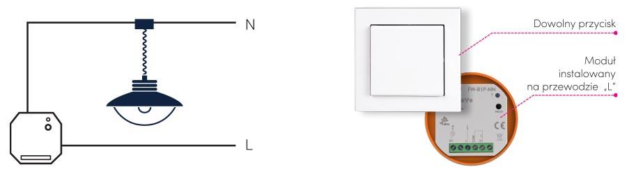 Moduł przekaźnikowy do tradycyjnych instalacji bez przewodu N