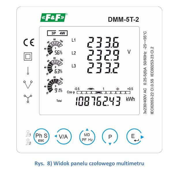 Wielofunkcyjny wskaźnik parametrów sieci DMM-5T-2