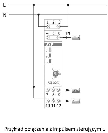 Przetwornik sygnału przykład połączenia z impulsem sterującym L