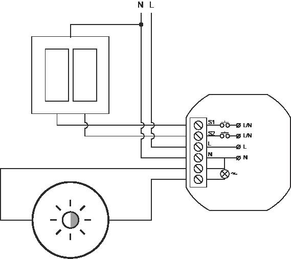 Proxi Light schemat podłączenia