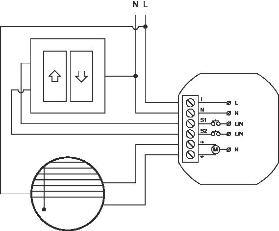 Proxi Shade schemat podłączenia