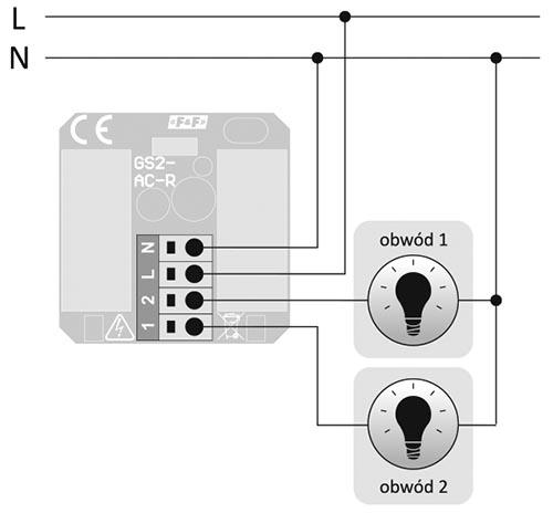 Przycisk szklany dotykowy - schemat podłączenia