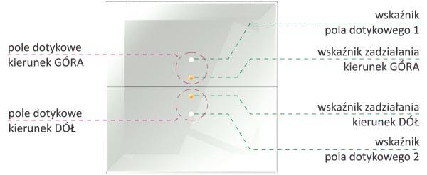 Przycisk szklany dotykowy - sterownik rolet